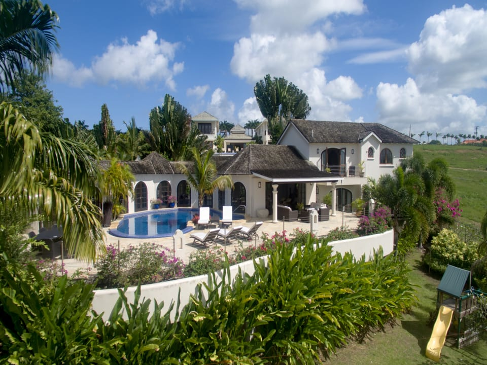 Villa from the Caribbean Sea