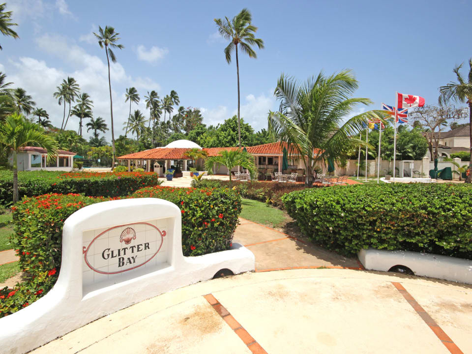 View of Restaurant & Gardens from Beach