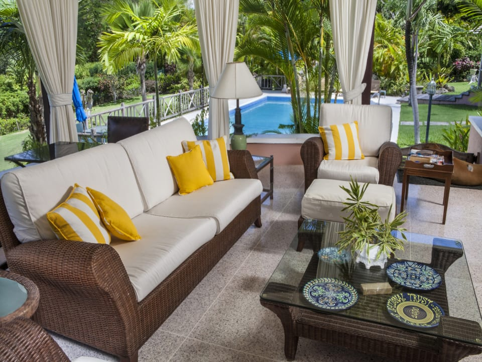 View of swimming pool from verandah