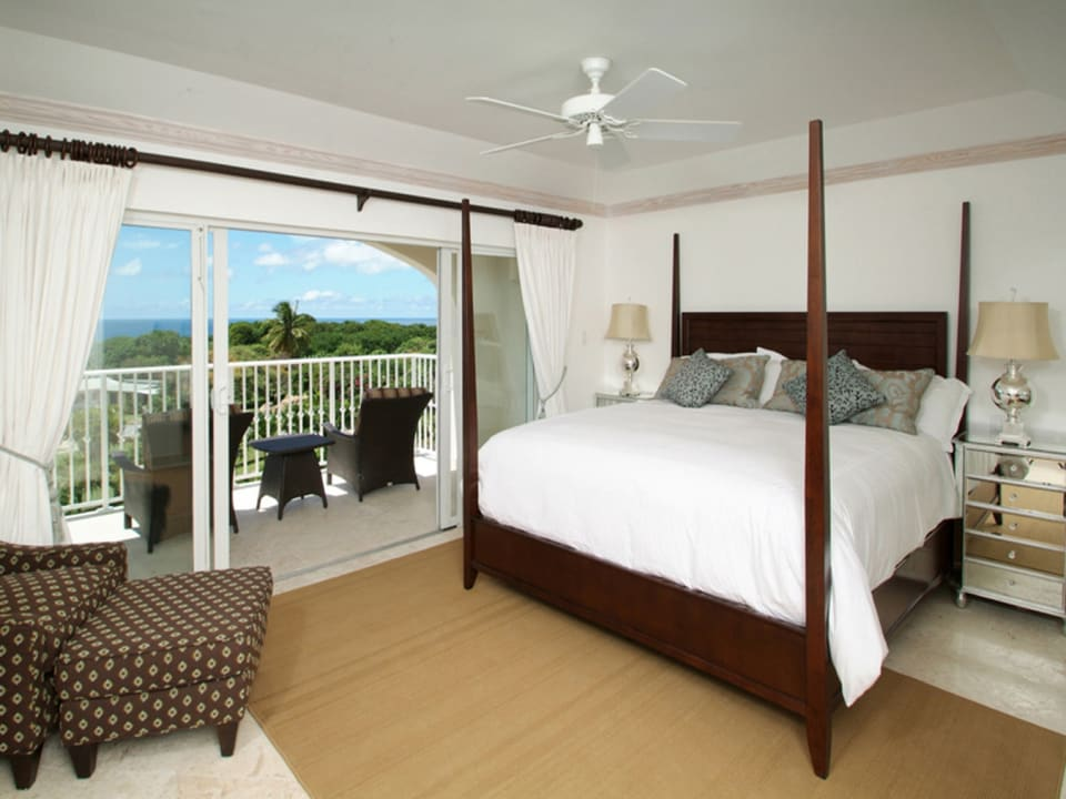 Bedroom with Balcony & Ocean View