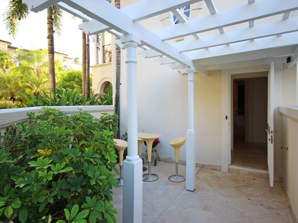Private courtyard at villa entrance