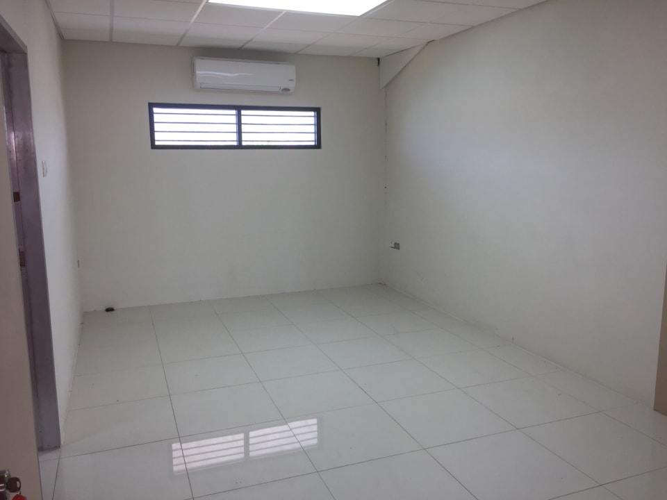 private office with an additional office attached