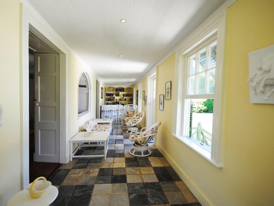 Flagstone floored verandah