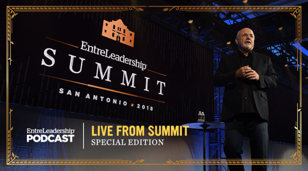 Dave Ramsey on stage at EntreLeadership Summit 2018