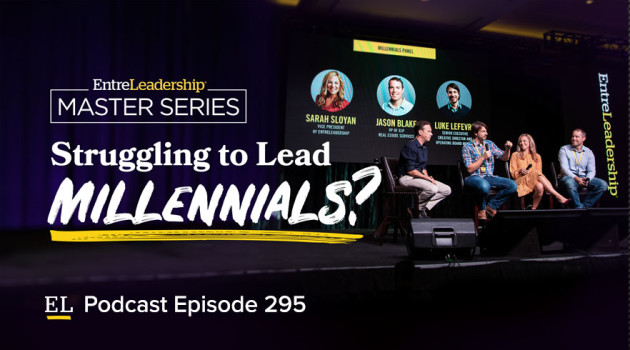 Ramsey Solutions leaders answer questions about millennials on stage at Master Series.