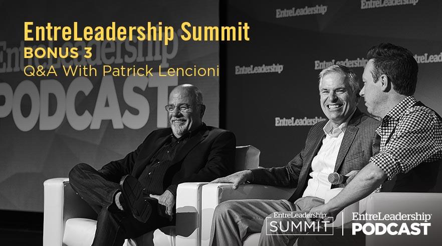 Dave Ramsey, Patrick Lencioni and Ken Coleman on EntreLeadership Summit stage