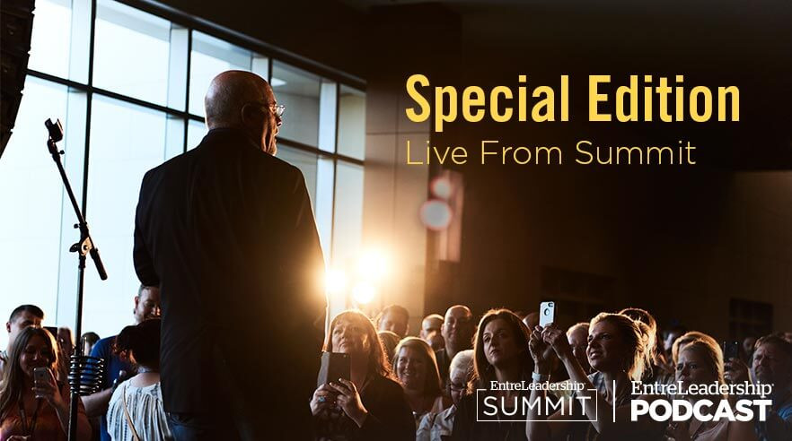 Dave Ramsey on stage at EntreLeadership Summit