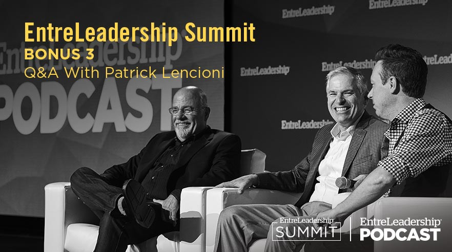 Dave Ramsey, Patrick Lencioni and Ken Coleman on stage at EntreLeadership Summit
