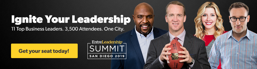 EntreLeadership Summit Speakers Chris Hogan, Peyton Manning, Sara Blakely and Simon Sinek