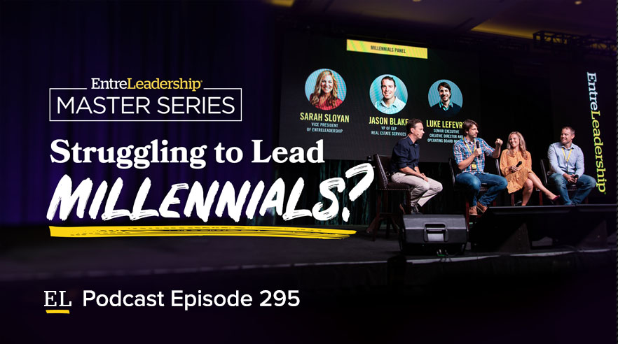 Ramsey Solutions leaders answer questions abouot millennials on stage at Master Series