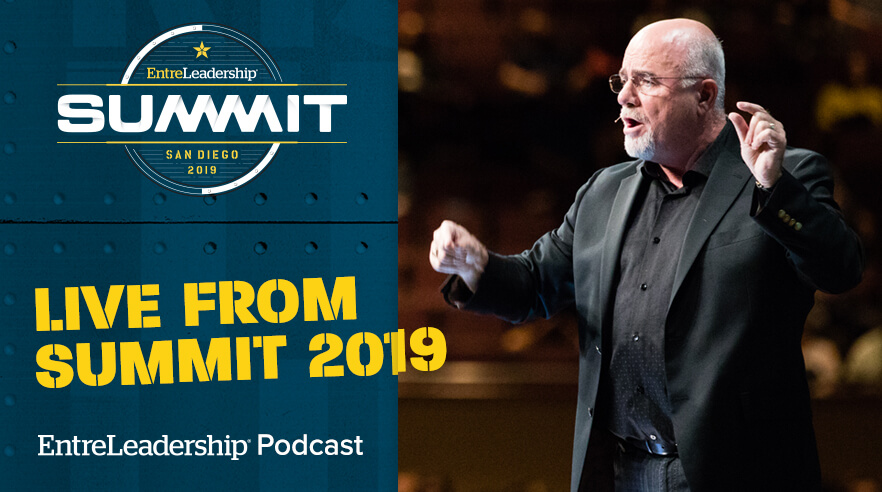 Dave Ramsey on stage at the EntreLeadership Summit leadership conference