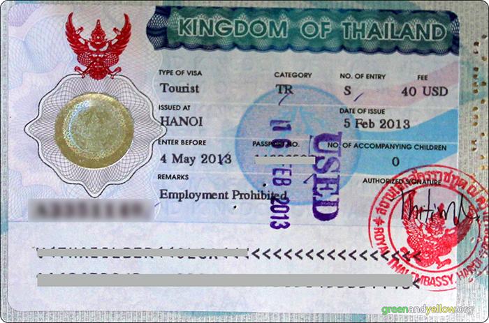 Thailand Travel Visa Usa
