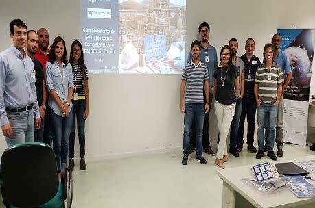Treinamento de Gerenciamento de Projetos, visão PMI, utilizando o Compet-Action