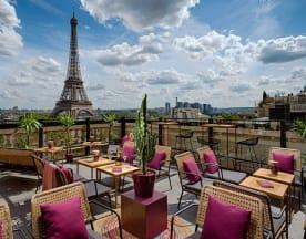 Bar à ciel ouvert, Shangri - la Hotel, Paris, Paris