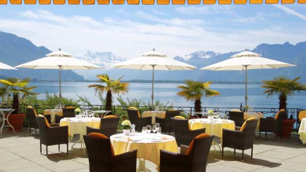Vue depuis la terrasse - Golf Hotel René Capt, Montreux
