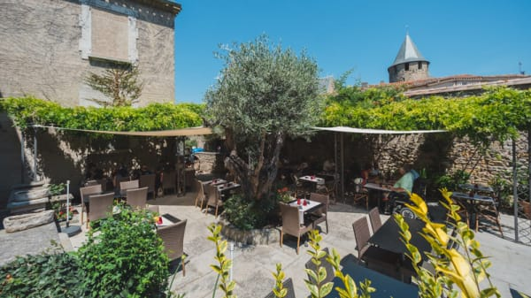 Terrasse - Brasserie Le Donjon, Carcassonne