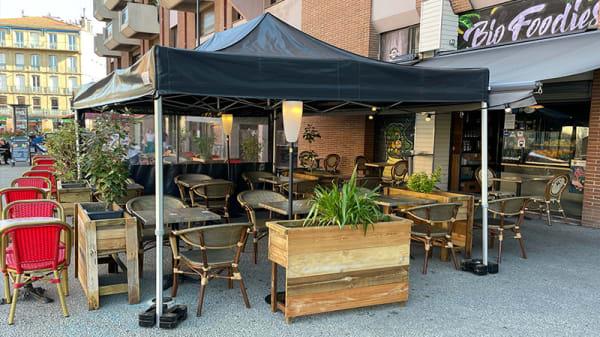 Terrasse biofoodies café - Biofoodies Café, Toulouse