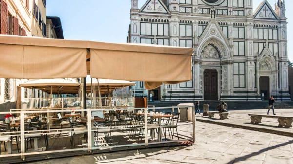 La terrazza sulla piazza di Santa croce - Osteria Battipalla, Florence