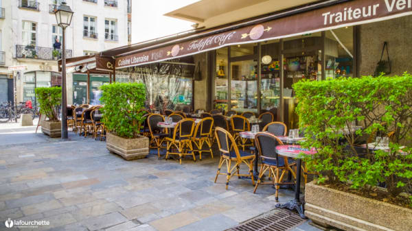Vue de la terrasse - Falafel Cafe, Paris