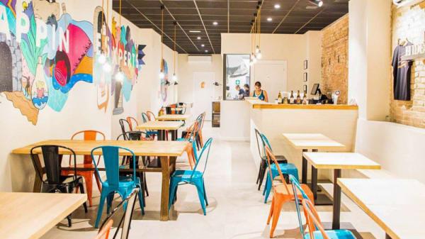 Vista sala - Hideout Burger, Barcelona