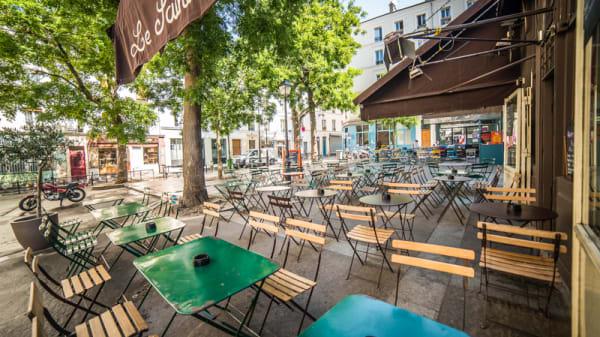 Grande terrasse ombragée - Le Sainte-Marthe, Paris
