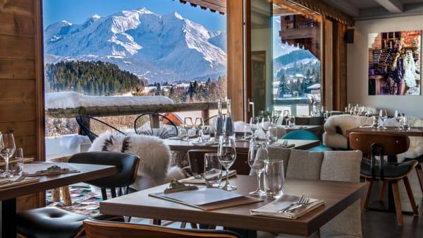 Restaurant 1786 vue Mont Blanc - Restaurant Le 1786, Cordon