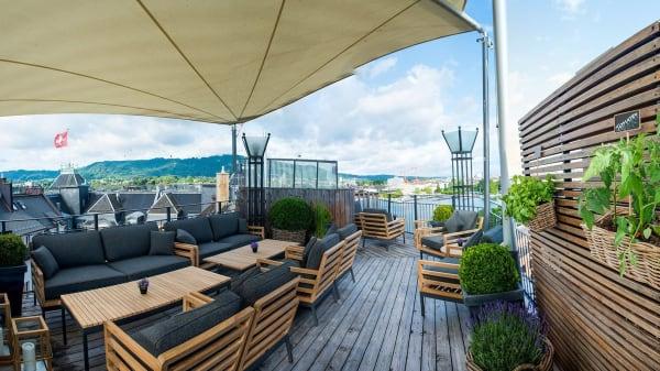 Vue de la terrasse - Restaurant Opera, Zurich