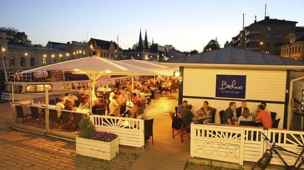 The restaurant by night - Hamnpaviljongen, Uppsala