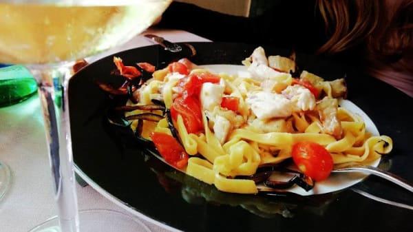Fettuccine Spigola e Melanzane - Villa San Giorgio, Fiumicino