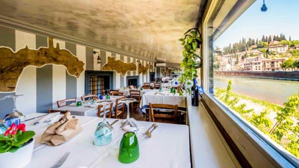 Vista sala - Trattoria Fluviale Vecio Mulin, Verona
