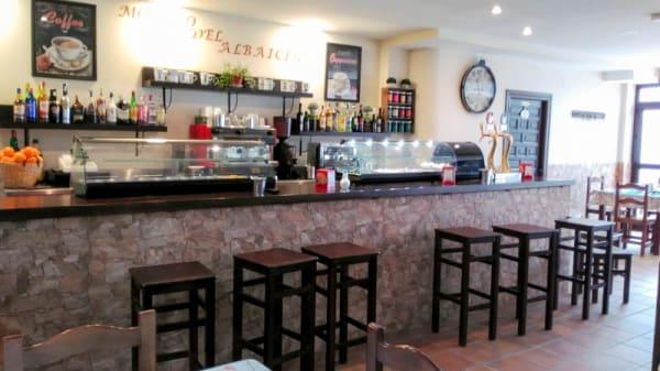 Vista de la cafetería - Molino del Albaicín, Sabiote