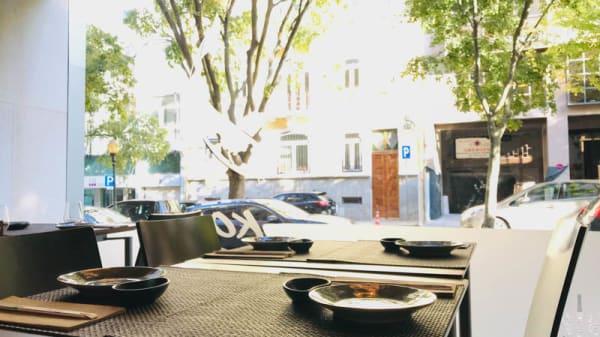 Vista da sala - Koi Sushi Saldanha, Lisboa