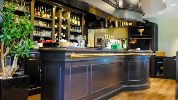 Vue du comptoir - Brasserie de la gare, Angers