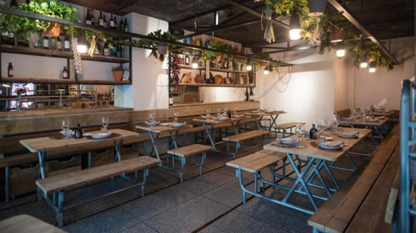 Sala del restaurante - Caraba, Madrid