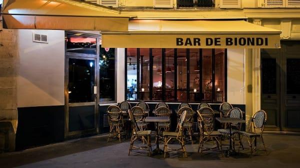 Devanture - Bar de Biondi, Paris