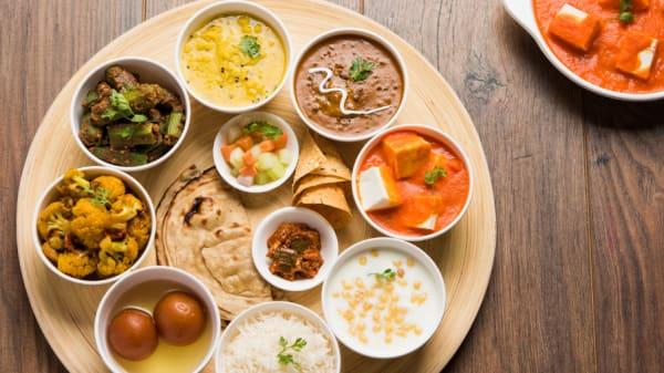 special vegetarian thali, 11 dishes - Indian Lounge Edinburgh, Edinburgh