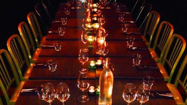 Dining room detail - Viskan vinbar, Borås