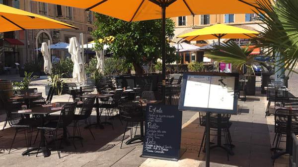 Vue de la terrasse - Marcello Pane e Vino, Marseille