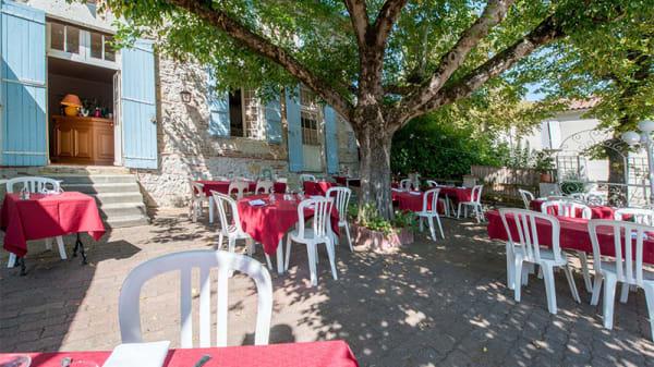 Vue de la terrasse - la Table d'Antan, Bon-Encontre