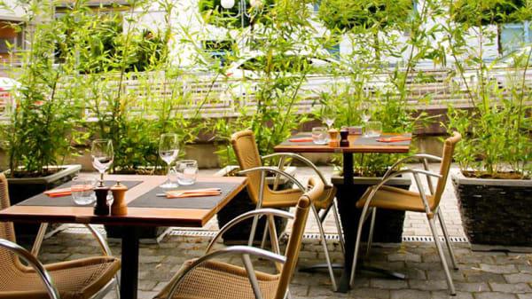 Terrasse - Brasserie de la Planta - Chez Claude, Sion