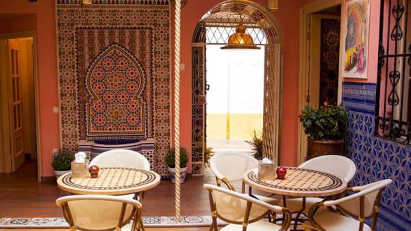 Vista de la sala - Casa Qurtubah, Córdoba