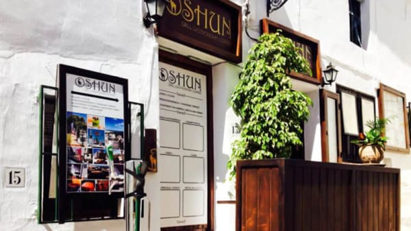 Vista entrada - Oshun Gastronomy Lounge, Frigiliana