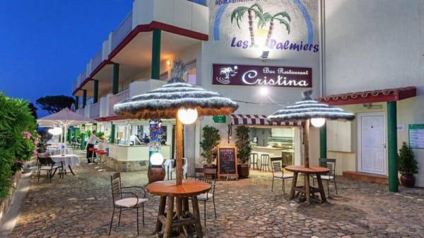 Terraza bar - Cristina -  Complejo Les Palmiers, Llança