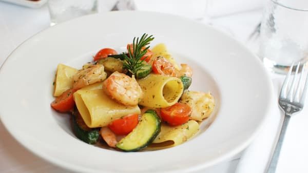 Peccheri gamberi e zucchine - Di Felice, Paris