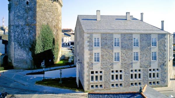 Vista fachada - Restaurante Enxebre - Parador de Vilalba, Vilalba