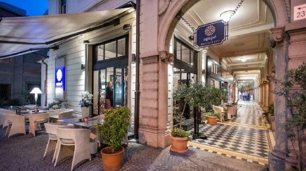 Esterno con terrazza e portico - agapé - Cucina bistronomica a Lugano, Lugano