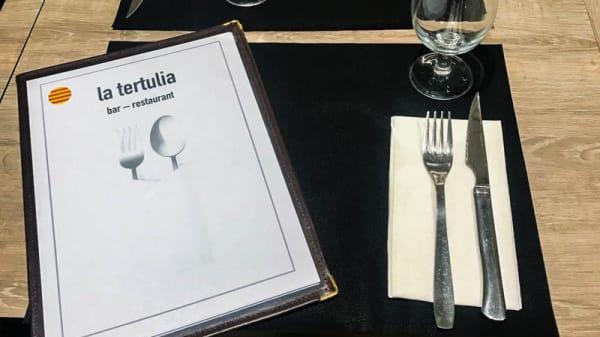Detalle de la mesa - La Tertulia, Barcelona