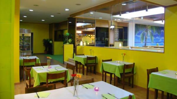 sala do restaurante - Oásis Vegetariano, Lisboa