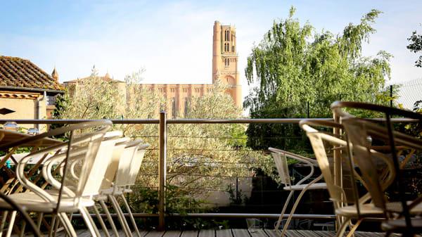 Vue de la terrasse - La Planque de l'Évêque, Albi