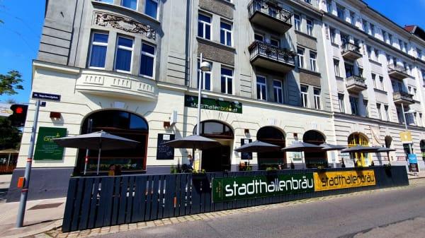 Schanigarten - Vogelweidplatz 1 - Stadthallenbräu, Wien